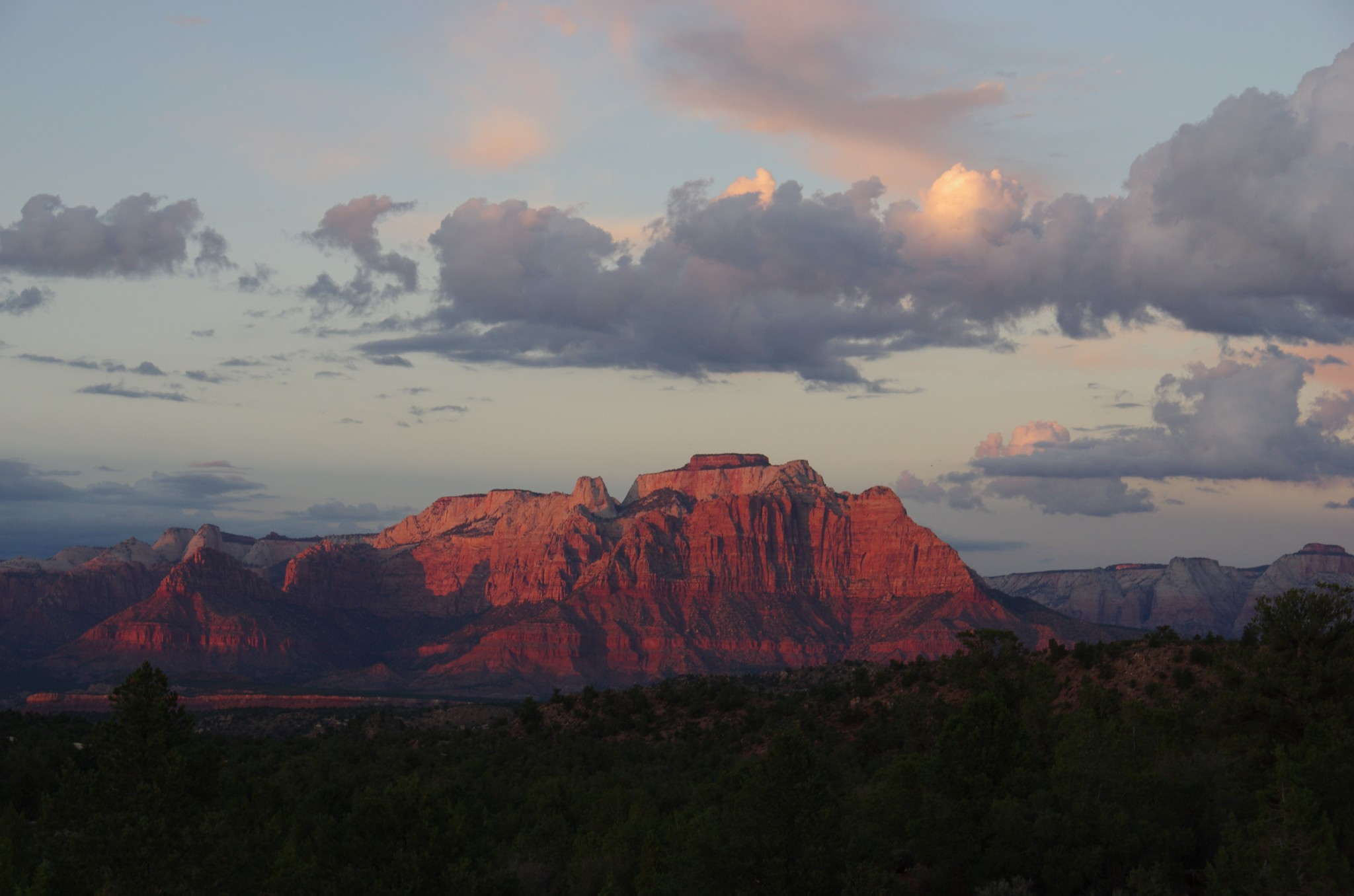 Sunset @ Gooseberry Mesa – West Temple, Zion NP, UT